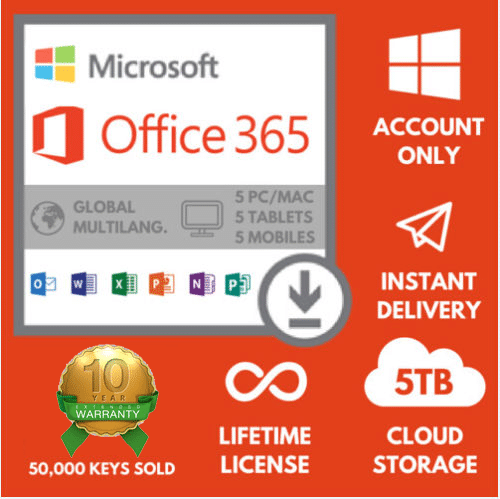 Office 365 Proplus Lifetime License 1tb Cloud Desk 5tb Web Great American Computer